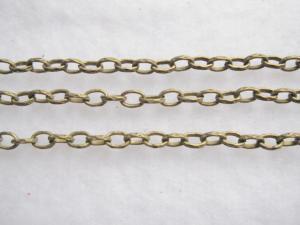 Bronsfärgad kedja (1m)