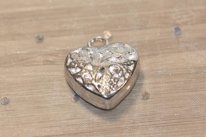 Silverpläterat hjärta (1 st)