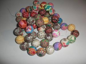 Fimo pärlor (paket om 5 st)