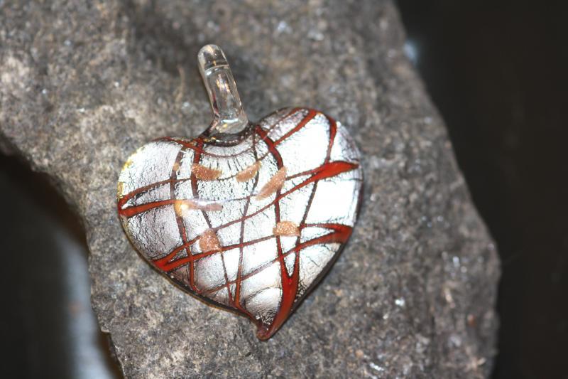 Glashjärta (paket om 10 st)