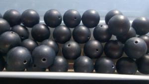 Frostade agat pärlor (paket om 4st)