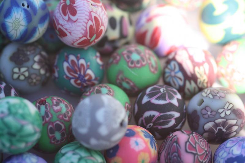 Fimo pärlor (paket om 10 st)