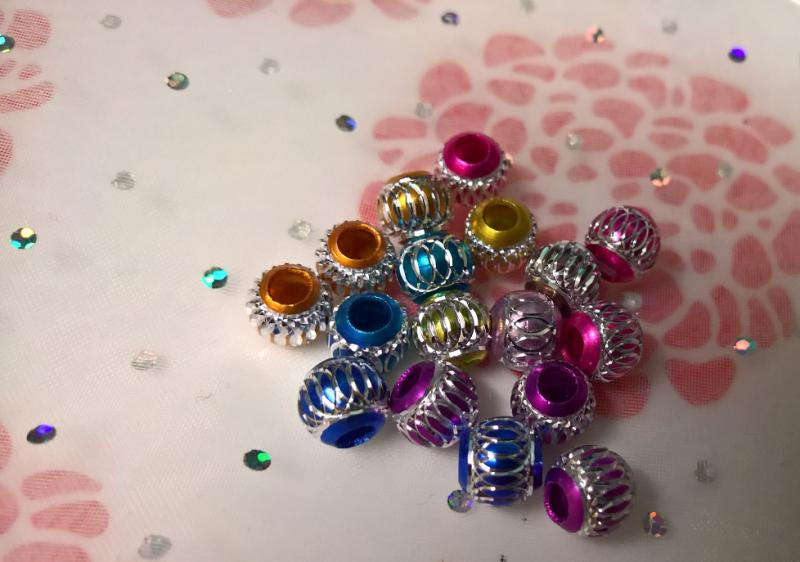 Aluminium pärla (5st)