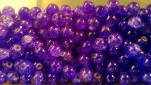 Krackelerade Glaspärlor ( paket om 20 st)