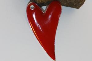 Emaljerat hjärta (1st)