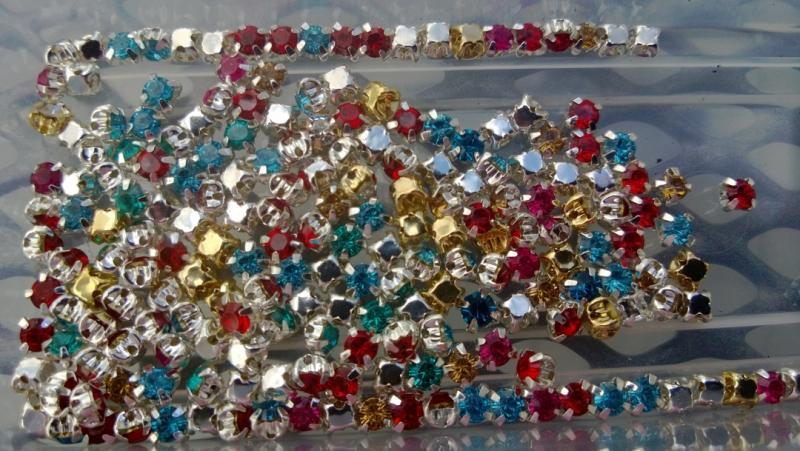 Små kristall pärlor (paket om 10 st)