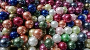 Glaspärlor (5 st)