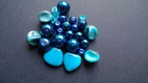 Pärlmix Blå ( paket om 25 st)