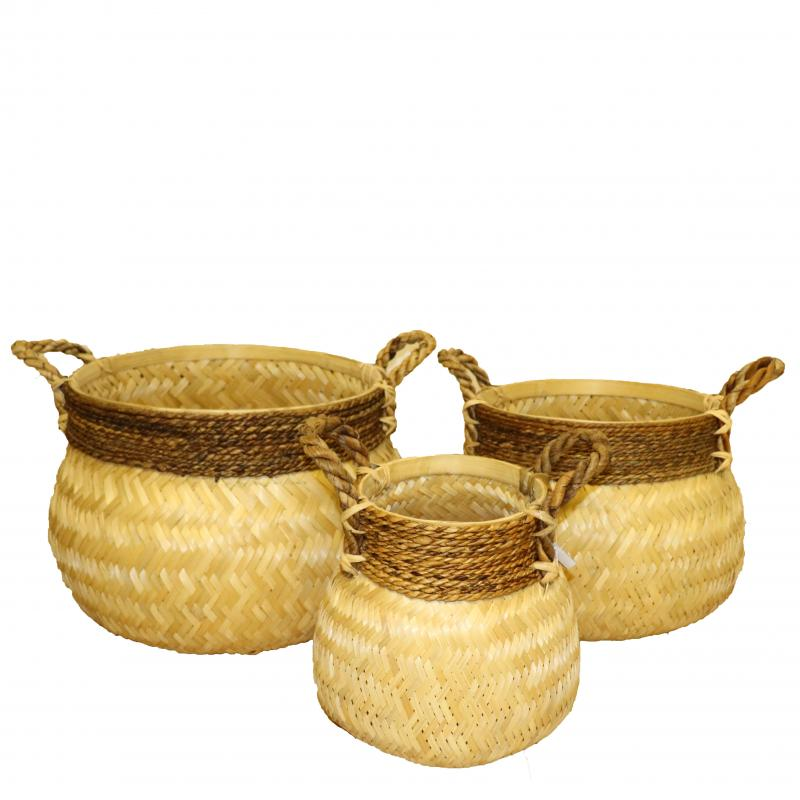 Bambukorg Set/3 natur