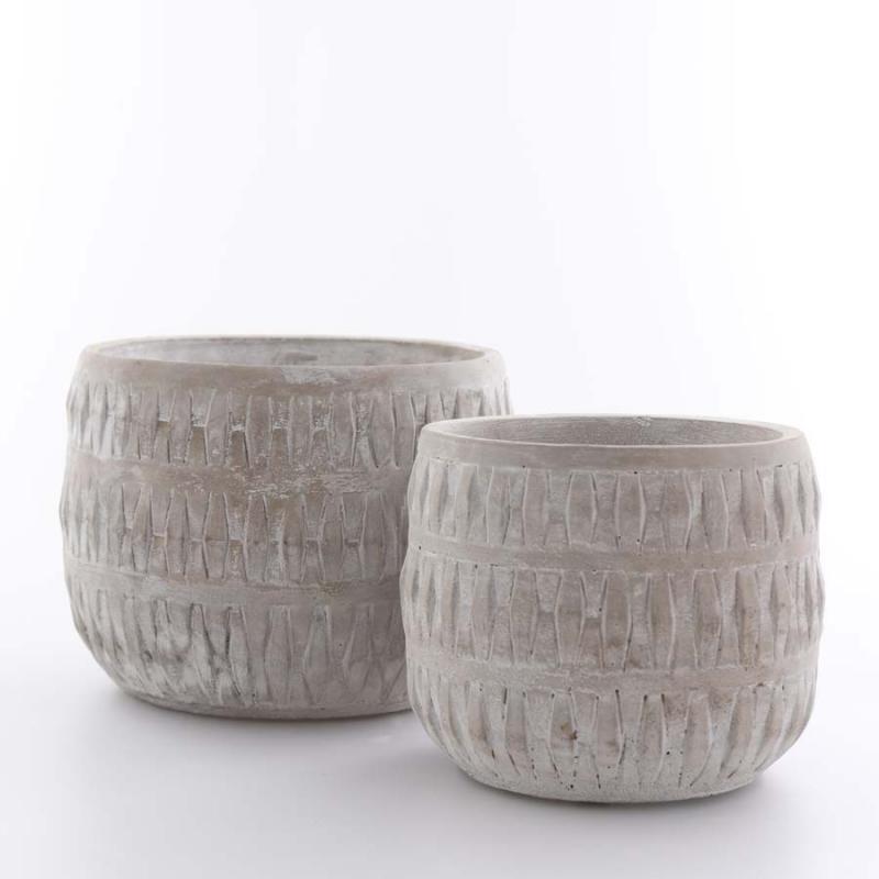 Betongkruka set/2 gråvit