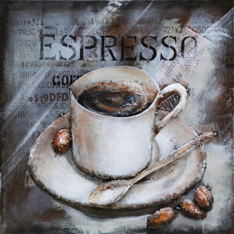Tavla metall espresso