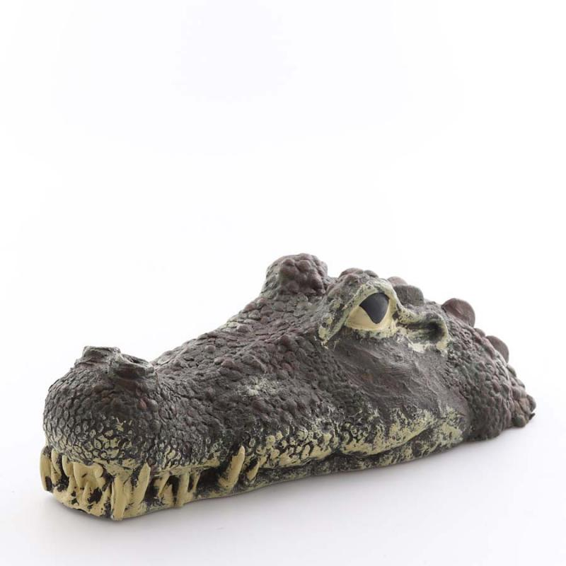 Flytande krokodilhuvud