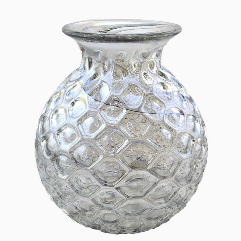Glasvas bubblig klarglas