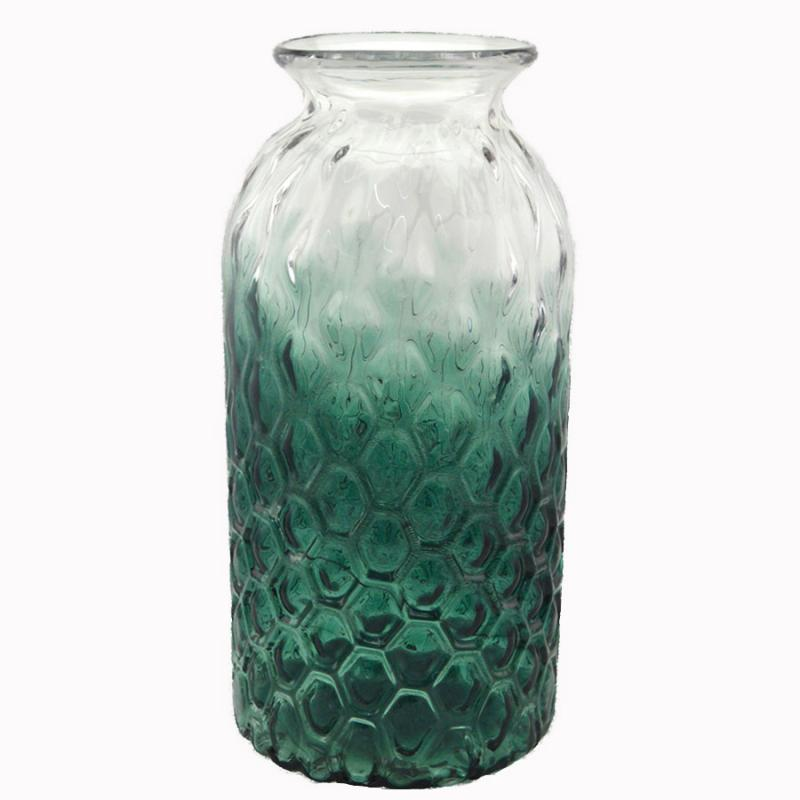 Glasvas hög Green d20h42,5cm
