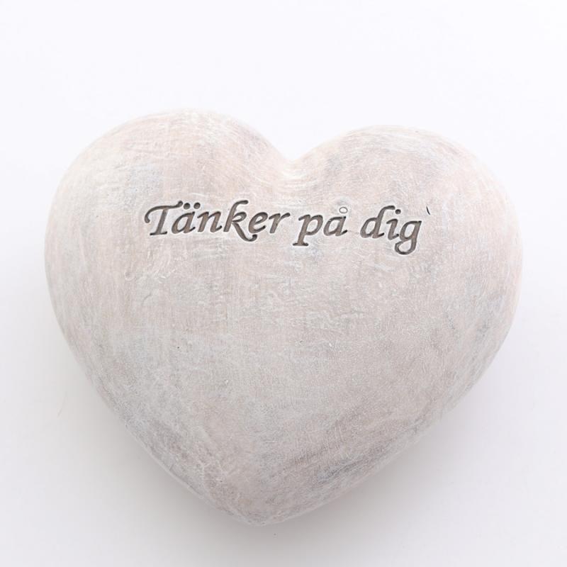 Texthjärta grå stor tänker på dig
