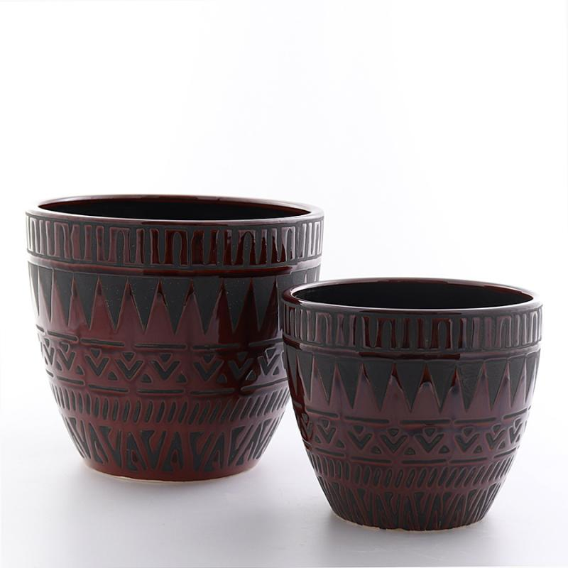 Kruka Kairo set/2 stor brun/svart