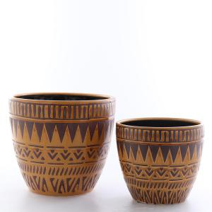 Kruka Kairo set/2 stor gulbrun