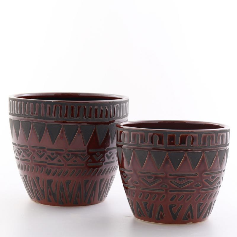 Kruka Kairo set/2 mellan svart/brun