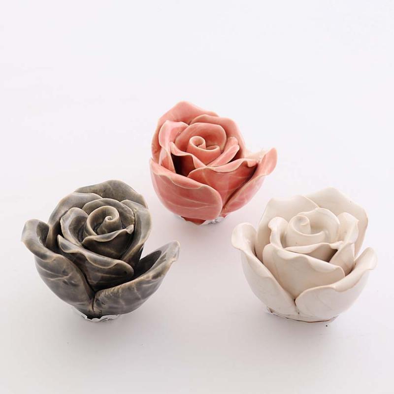 keramik ros stor 3 färger