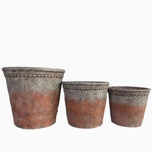Kronkruka set/3 stor terracotta