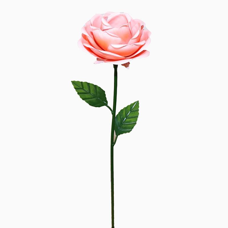 Ros i plåt rosa