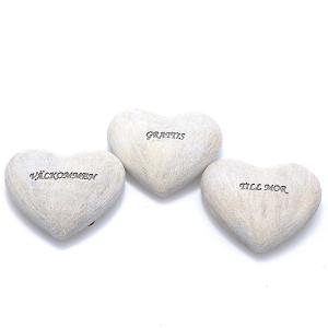 Textstenar hjärta 3 mix