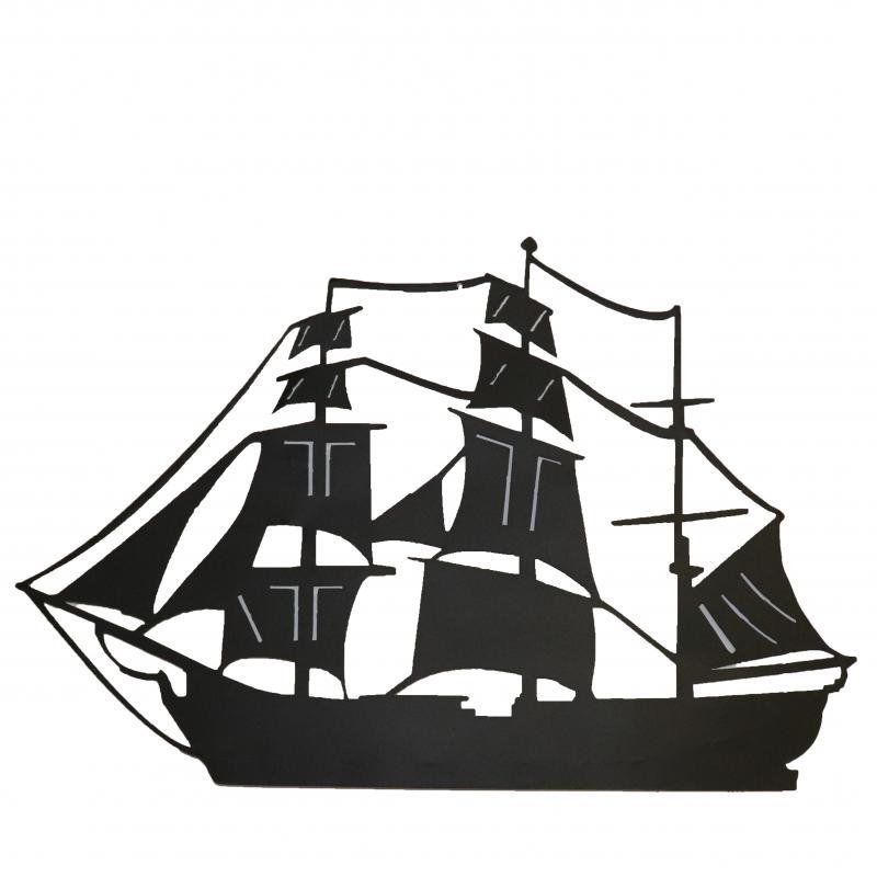Segelbåt för vägg svart
