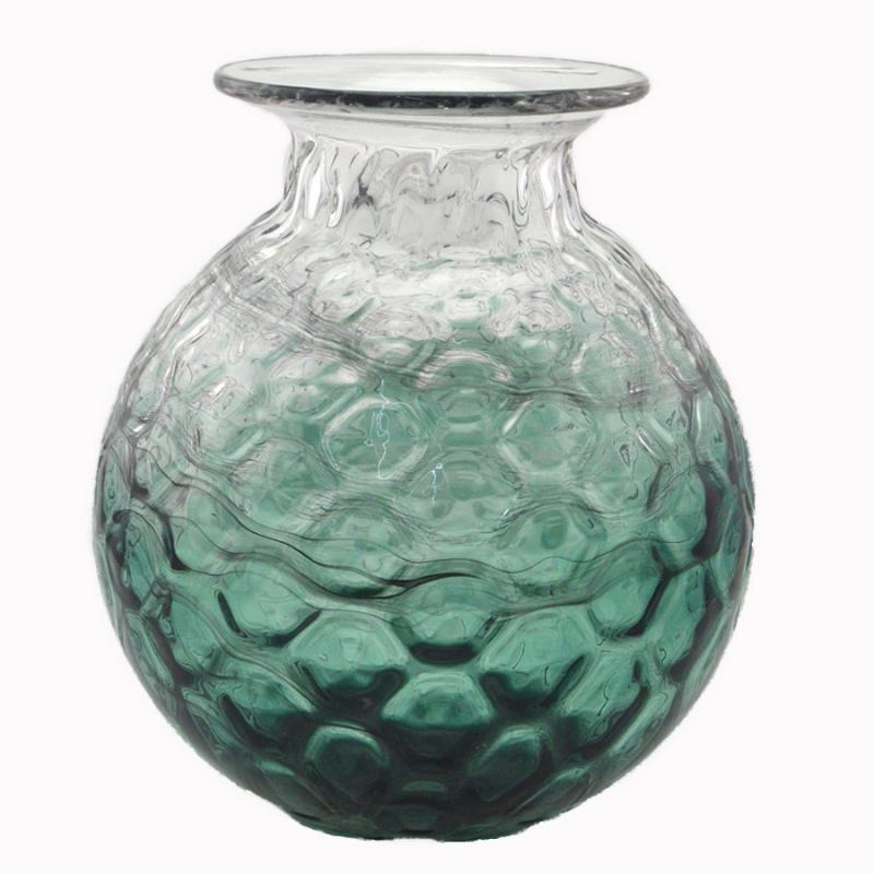 Glasvas stor bubblig grön