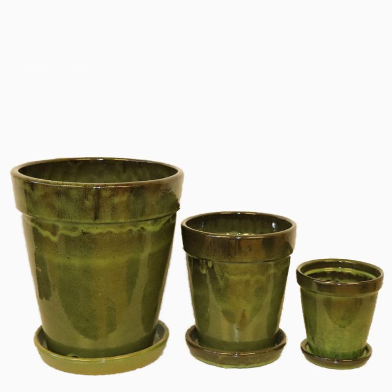 Kruka Vietnam med fat Set/3 greenblack