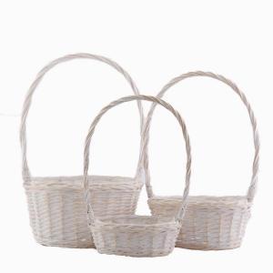 Grepkorg set/3 oval whitewash