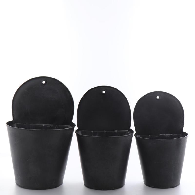 Zinkvägg set/3  svart
