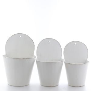 Zinkvägg set/3  vit