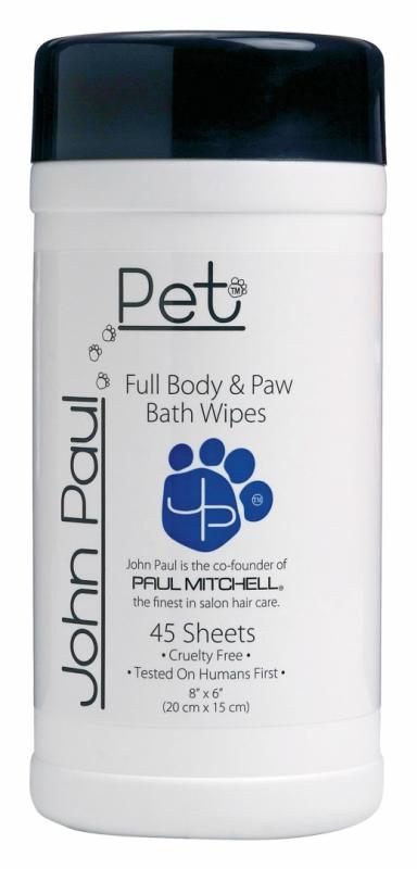 John Paul Pet Full, Body & Paw Wipes