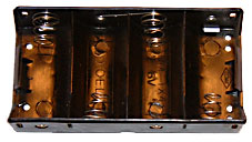 Batterihållare 4xR20 (D), st