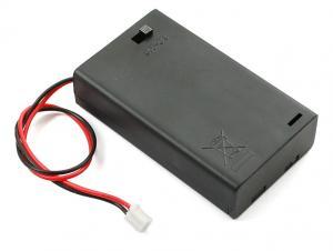 Batterihållare 3xAAA, med kontakt