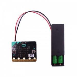 Batterihållare 2xAAA med kontakt och on-off knapp,st