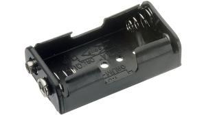 Batterihållare 2xAA frontmatad, st