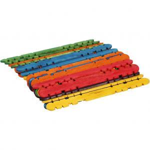Glasspinnar/Konstruktionspinnar, färgade, 30 st