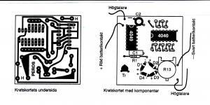 Ljudgenerator, kretskort, st