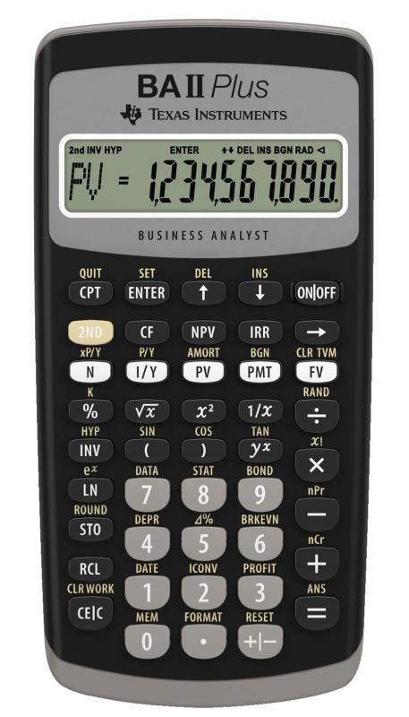TI-BA II Plus, Finansräknare