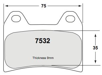 Performance Friction Carbon Metallic brake pads