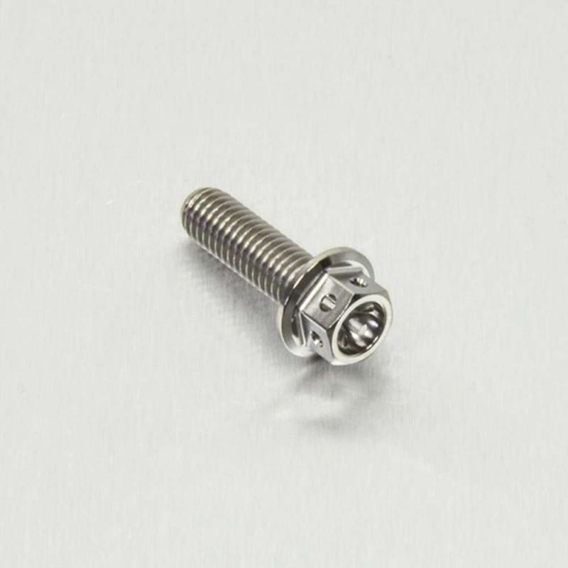 Titanium Flanged Hex Head M6x(1.00mm)x20mm Race Spec