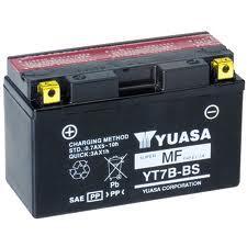 YUASA YT7B-BS AGM open with acid pack
