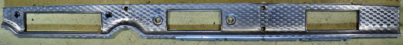 1957 Buick  Aluminium list på instrument brädan