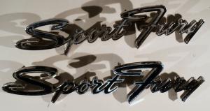 1968  Plymouth Sport Fury    emblem      höger och vänster