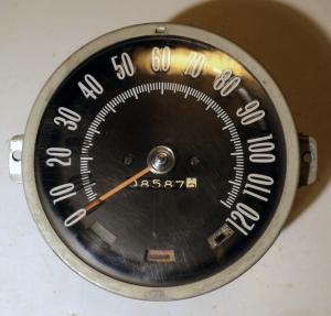 1966 Oldsmobile 98 hastighetsmätare (bränt glas höger blinkers)