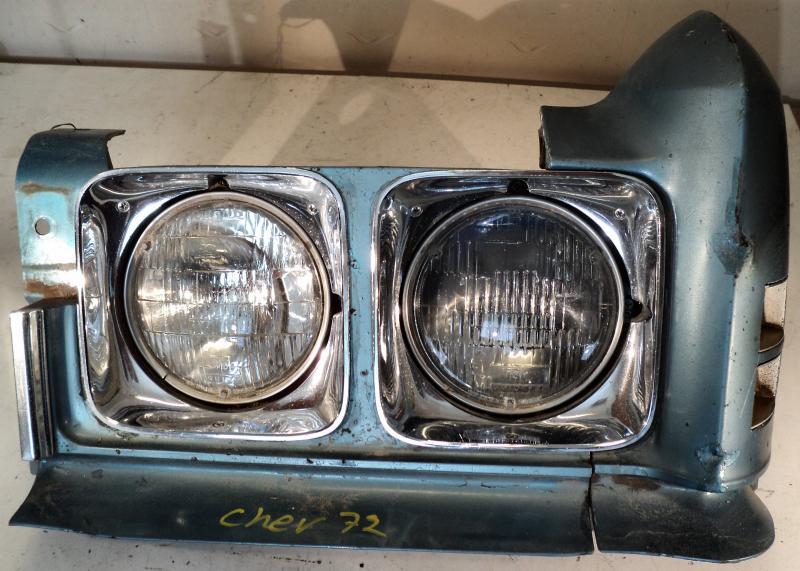 1972 Chevrolet Impala       lykthus vänster (bula på  skärmförlängaren, se bild)