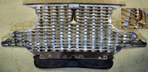1961 Plymouth Fury   grill ( färg på grillen på grund av dålig maskering vid omlakering)    . Obs  Endast hämtning!