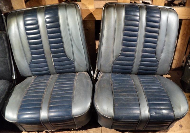 1962 Oldsmobile Starfire 2dr ht fram stolar, vänster stol har 2 vägs elunderede  behöver ny klädsel.