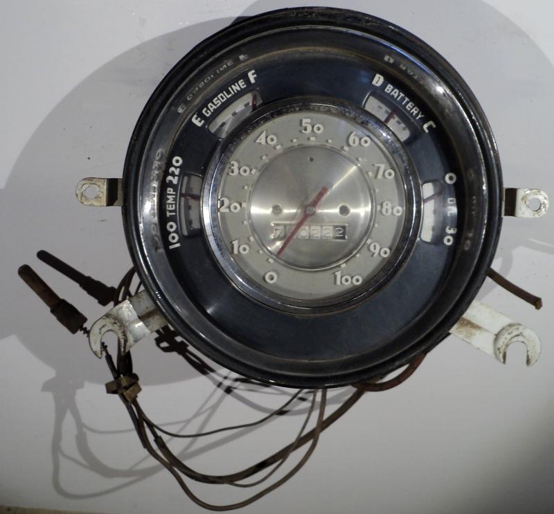 1952   Chevrolet    hastighetsmätare, tankmätare, ampärmätare, tempmätare, oljetrycksmätare